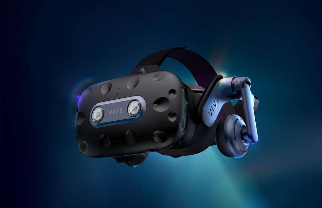 Le casque VR grand public HTC Vive Pro 2 avec un écran 5K et un champ de vision de 120 degrés. © HTC