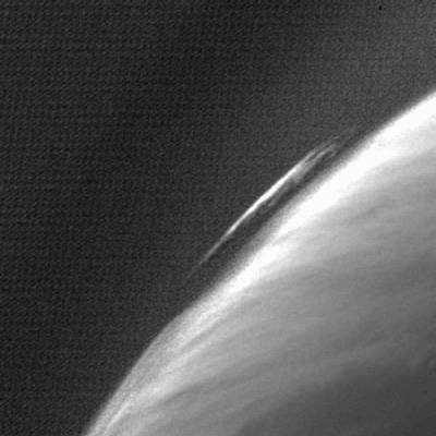 Formations nuageuses martiennes photographiées par l'instrument OSIRIS. Crédit ESA.