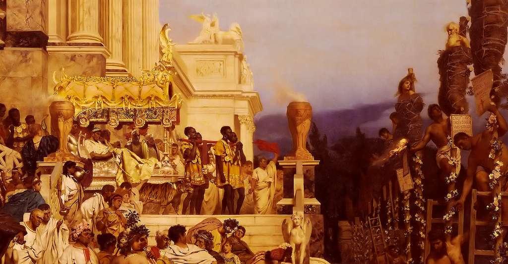 Le règne de l'empereur Néron est marqué par la persécution des chrétiens. Ici, un détail du tableau Les torches de Néron (1876), par Henryk Siemiradzki. © Bonhams, CCO