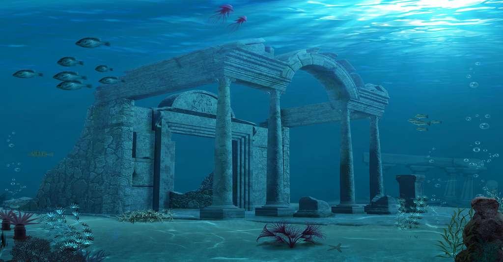 Atlantis, ruines antiques vue d'artiste. © ratpack223, Fotolia