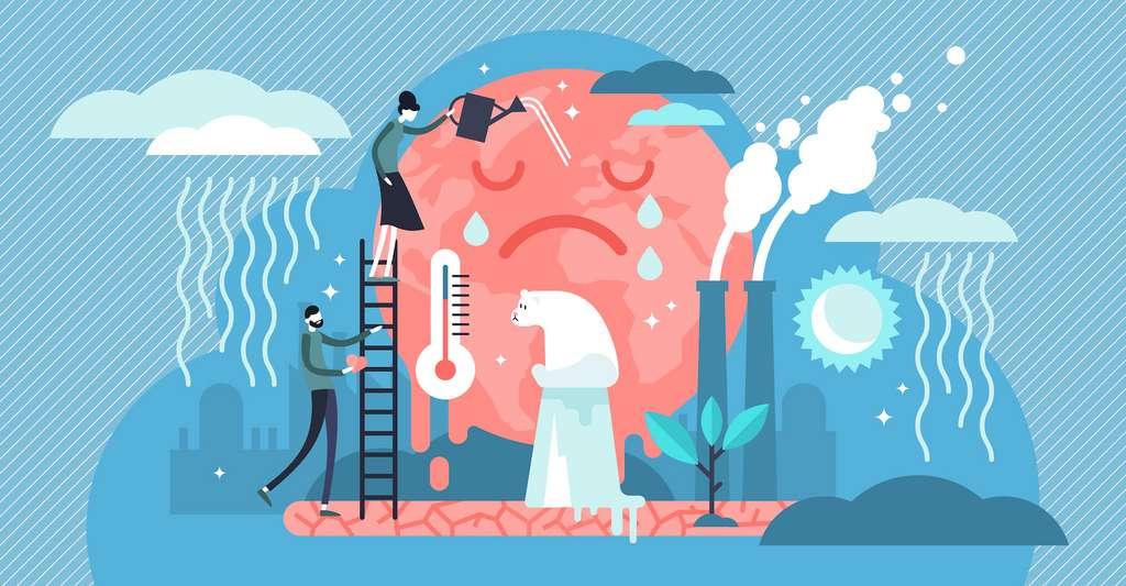 La perspective de la géoingénierie ne doit pas nous faire oublier les causes du réchauffement climatique. © VectorMine, Adobe Stock