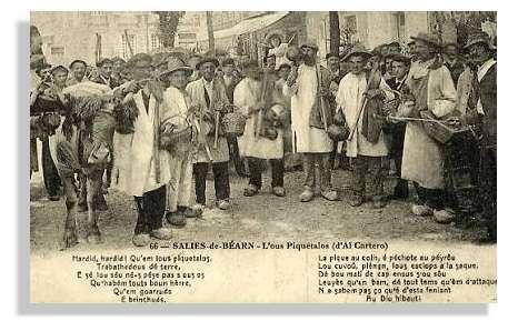 Cette chanson devint l'hymne des gemmeurs lors de la longue grève de 1919 © Claude Courau - Collection privée - Tous droits réservés