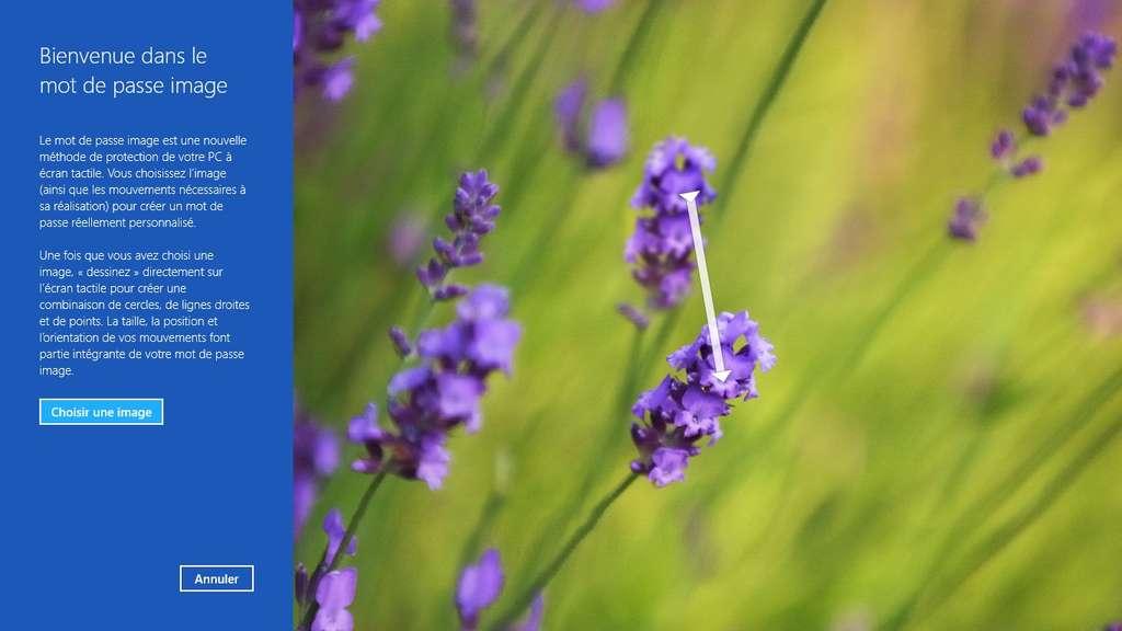 Plus besoin de saisir son mot de passe au clavier pour ouvrir une session avec Windows 8, il suffit de répéter une série de trois gestes sur une image pour que le système vous reconnaisse et ouvre son accès. © Eureka Presse