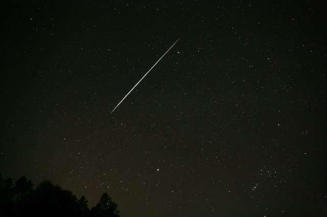 Étoile filante sur le plateau d'Alsace