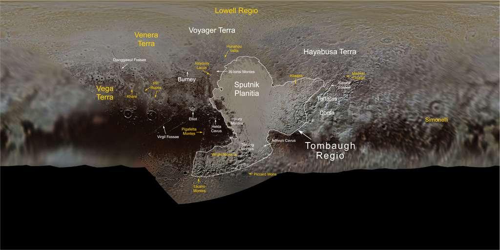 La nouvelle carte de Pluton. © Nasa, SwRI, JHUAPL