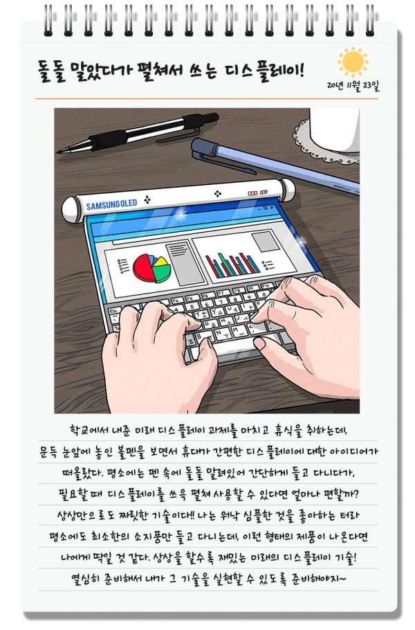 Un tube, une table, et voici le PC portable de demain ? © Samsung