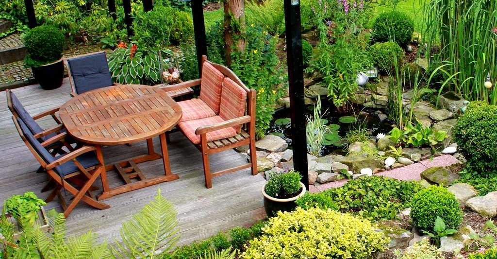 Conception d'une terrasse de jardin. © Cocoparisienne CCO