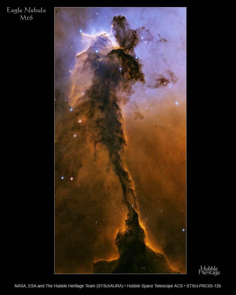 Hubble : Nébuleuse de l'Aigle (M-16)