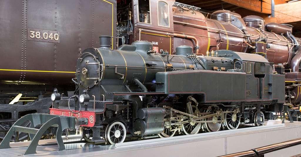 Modèle réduit de la 141 TC 701 à la Cité du train. Mulhouse. © A1AA1A, Wikimedia commons, CC by-sa 4.0