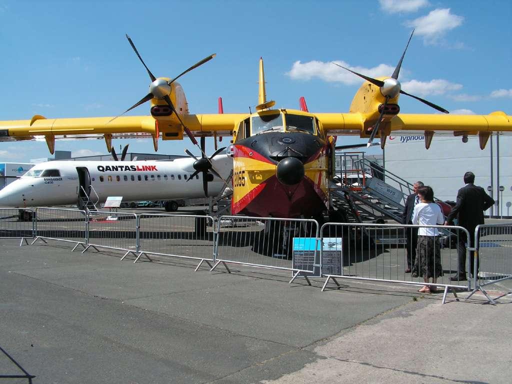Les avions exposés au Salon du Bourget