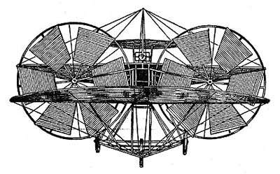 Le monoplan à vapeur de Thomas Moy (croquis d'époque). © Thomas Moy