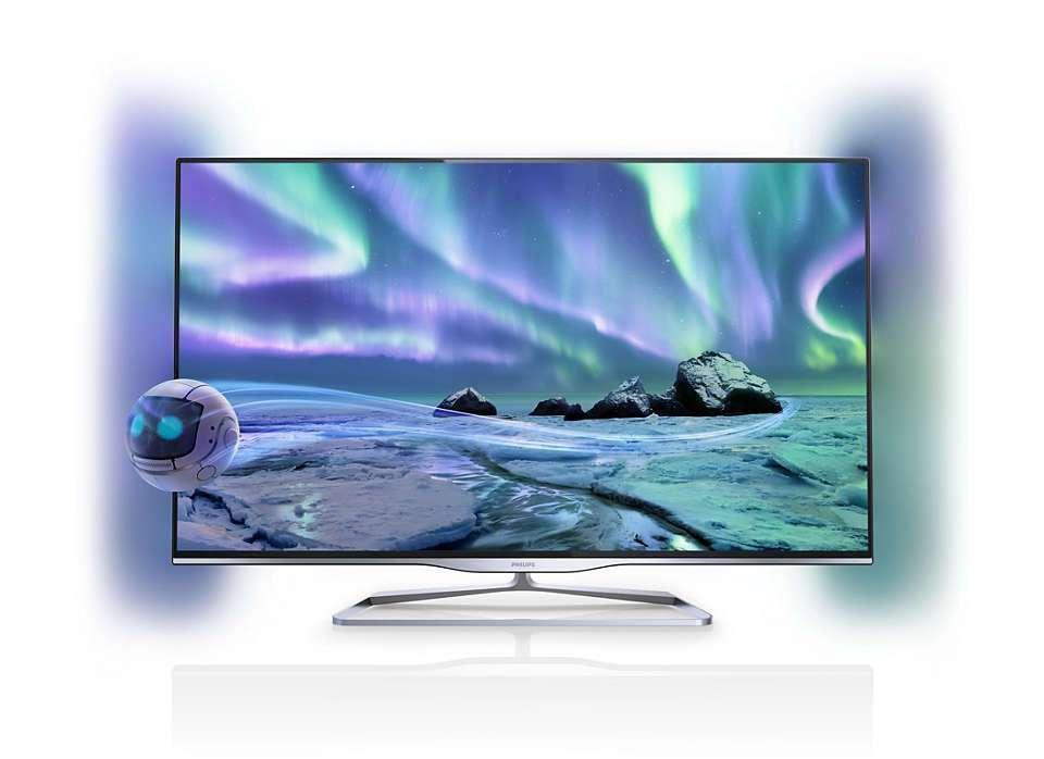 La TV 3D a laissé place à la ultra-haute définition. © Philips