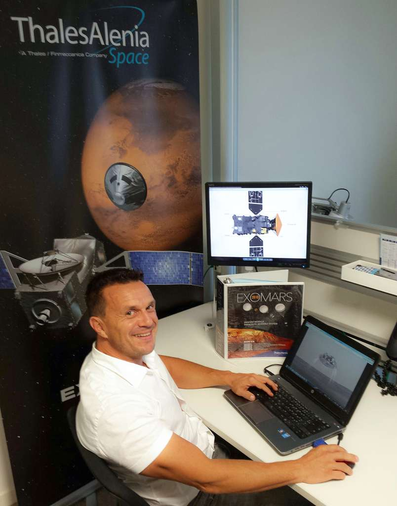 Frédéric Béziat lors de notre rencontre dans les locaux de Thales Alenia Space. © Thales Alenia Space