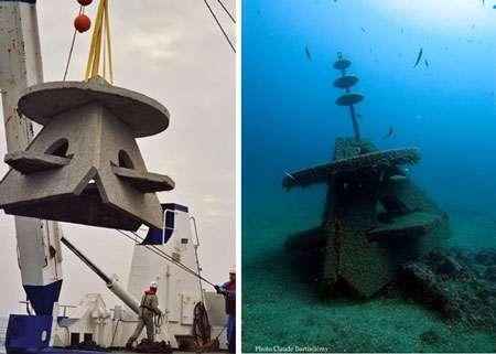 Exemples de récifs paysagers avec une recherche d'esthétisme : Khéops. © Hydro M