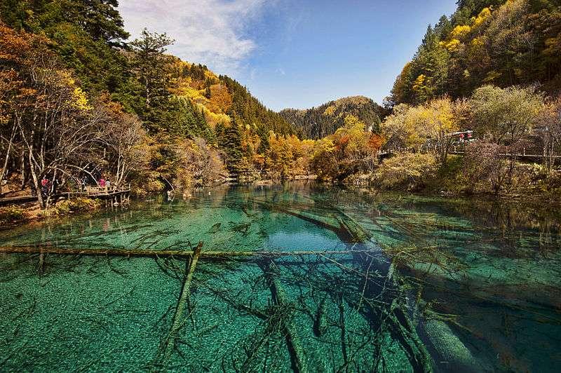 Le lac des Cinq Fleurs, au cœur de la vallée du Jiuzhaigou
