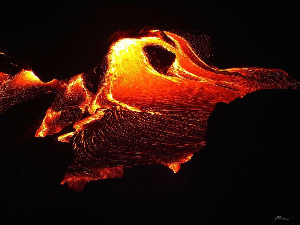 Coulée de lave du volcan Kilauea, à Hawaï. © Paul Bica, CC by-nc 2.0