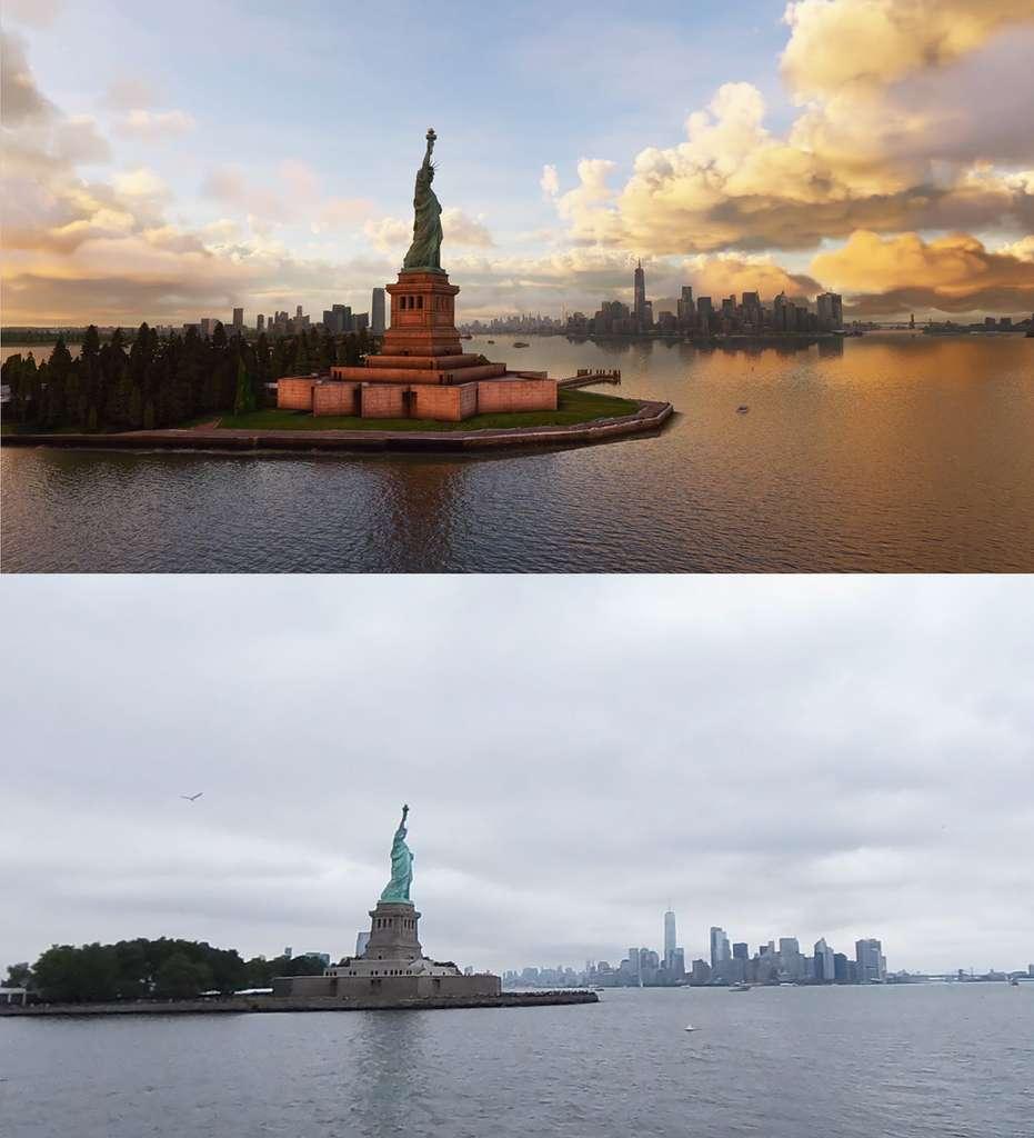 Avec Flight Simulator, on va survoler un New York plus vrai que nature. © Utherellus
