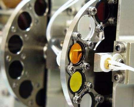 Roue à filtres de la caméra SSI. NASA.