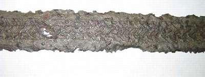 Epée damassée VIè Mérovingien - Antiquités Nationales