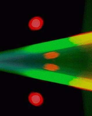 Une photo d'artiste du faisceau laser