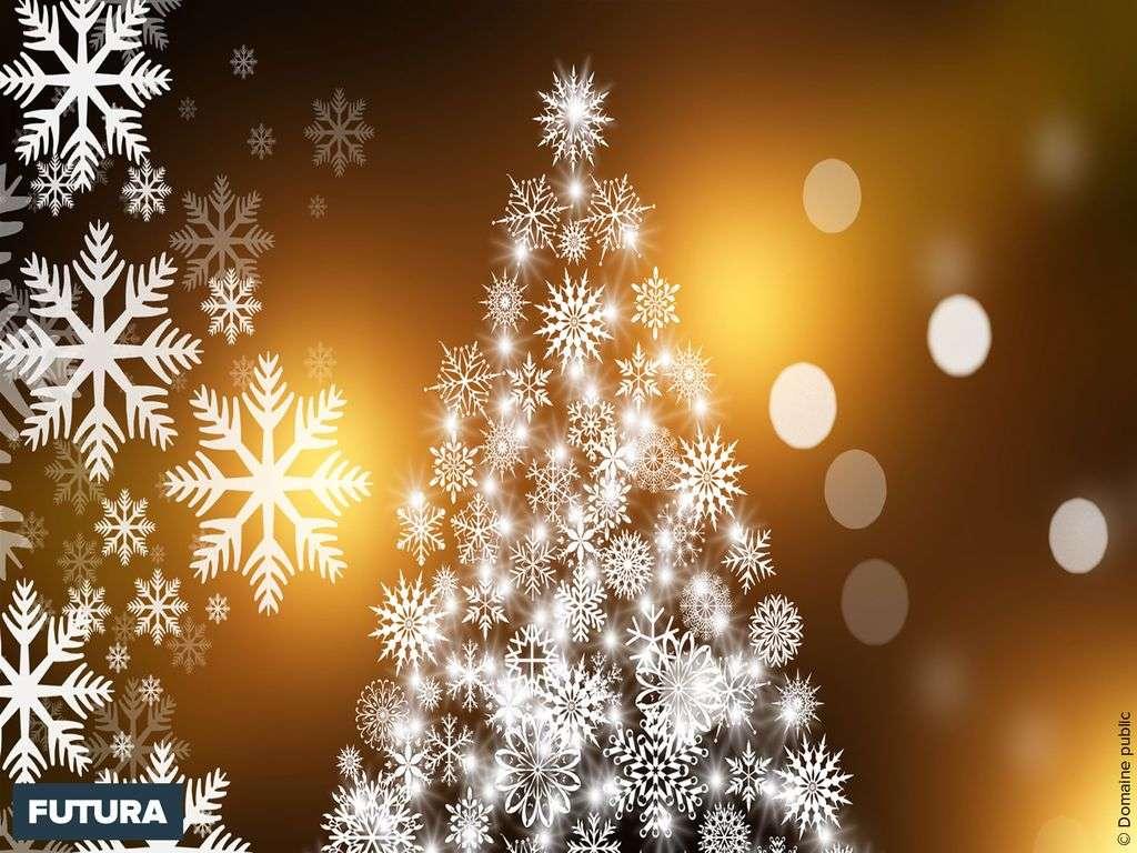 La magie d'un Noël blanc et or