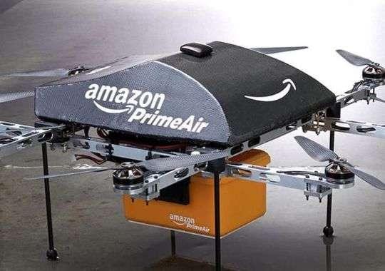 Le drone du programme Prime Air d'Amazon, une nouvelle espèce de livreur conçue pour les besoins du géant du commerce en ligne. Bien avant son invention, Isaac Asimov avait imaginé les trois lois de la robotique, afin d'encadrer les drones et autres machines. © Amazon