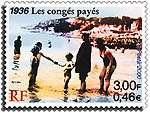 Été 1936, le Front populaire généralise les premiers congés payés. © Lapi Villet