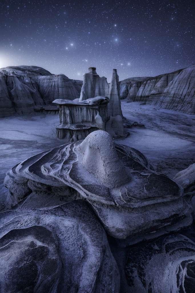 Interstellar, Bisti Badlands, Nouveau-Mexique, États-Unis