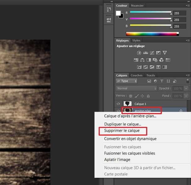 Après avoir créé le calque, vous pouvez supprimer l'arrière-plan. © Adobe