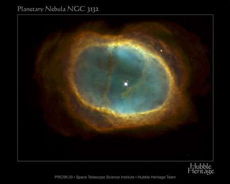 Mort des étoiles : vue nébuleuse planétaire, qui malgré son nom n'a rien à voir avec une planète mais est le résultat de l'éjection par une étoile de ses couches superficielles à la fin de sa vie. © Nasa domaine public