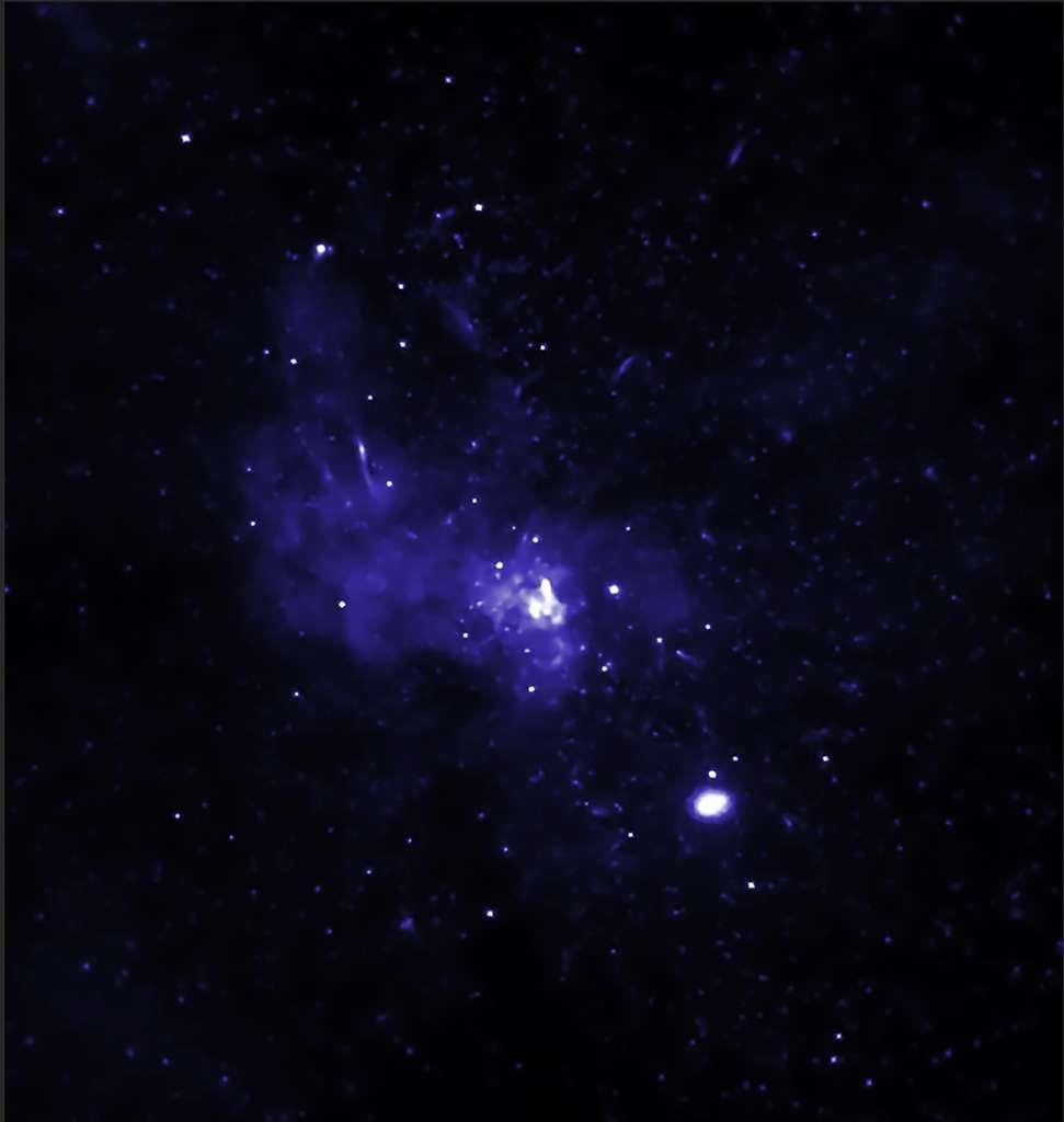 Une image en fausses couleurs des sources X autour de Sgr A*. © NASA/CXC/SAO