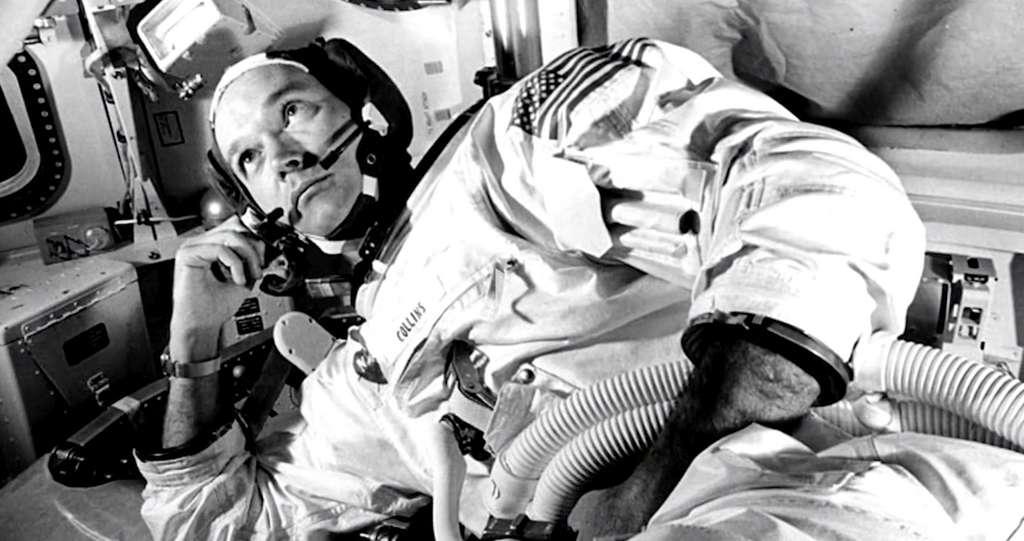 Michael Collins, seul à bord du module de commande et de service d'Apollo 11, attendant le retour de Neil Armstrong et Buzz Aldrin. © Nasa