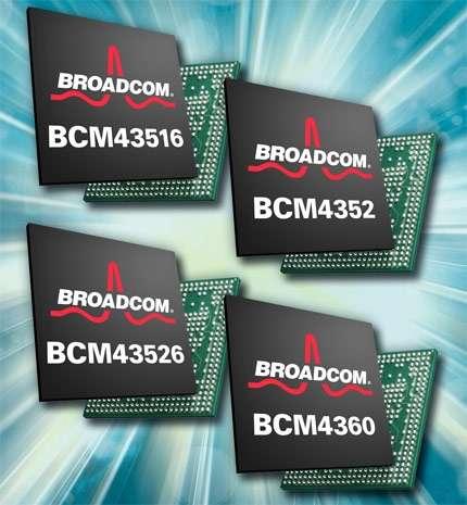 Pour gagner du temps en attendant la certification de l'IEEE, Broadcom vient de présenter 4 nouvelles puces 802.11ac au dernier CES de Las Vegas en janvier. © Broadcom