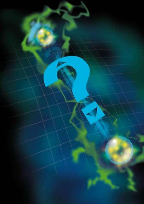 Comment peut-on expliquer les corrélations quantiques entre paires de particules intriquées exhibées par l'effet EPR ? Peut-être en introduisant des signaux plus rapides que la lumière entre ces paires, mais à quelle vitesse ? © Timothy Yeo/CQT, National University of Singapore