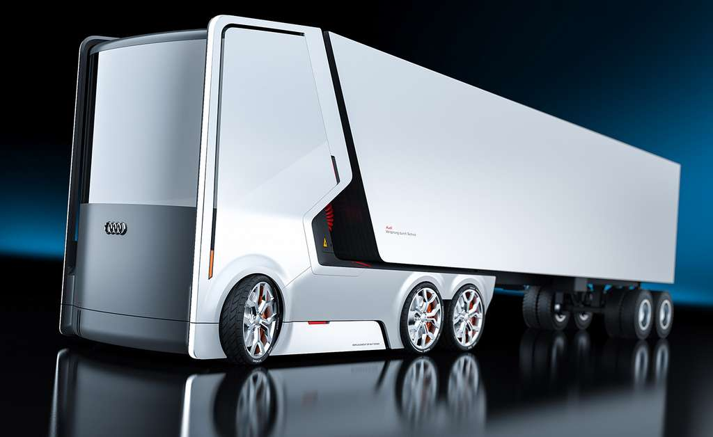 Ces deux concepts de camions Audi n'ont pas quitté la planche à dessin. Mais l'on aimerait assurément les voir sur nos routes! © Artem Smirnov et Vladimir Panchenko