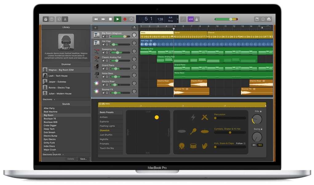 GarageBand est l'outil parfait pour les débutants qui se sentent une âme d'artiste. © Apple