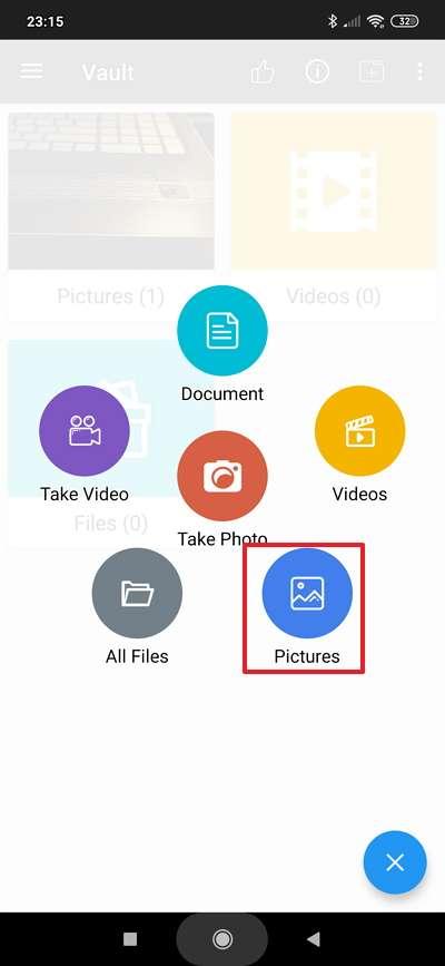 Choisissez le type de fichier que vous désirez cacher. © FishingNet