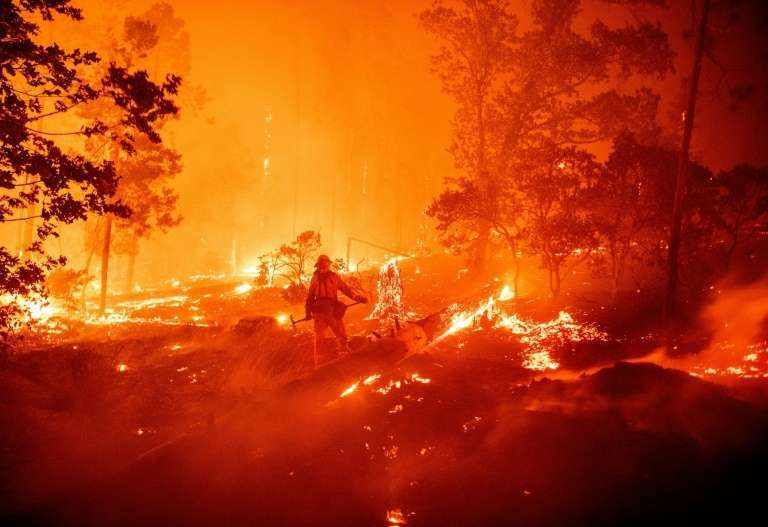 Impressionnants feux de forêts en Californie le 7 septembre 2020. © Josh Edelson, AFP