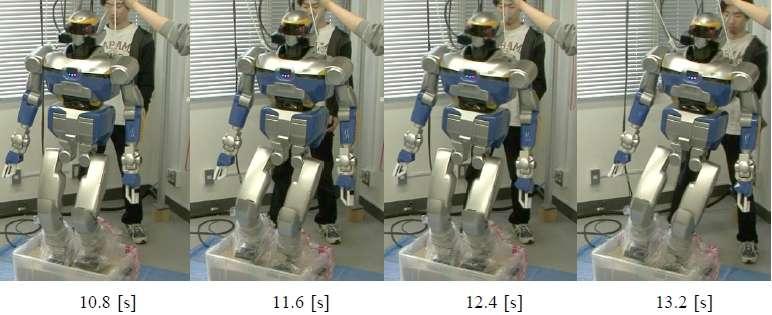 Pour un humain, marcher dans le sable est un exercice naturel, quoique un peu pénible à la longue, et pourtant cela relève de l'exploit pour un robot bipède. Lors des simulations informatiques, les chercheurs de l'université de Tohoku à Sendai au Japon y parviennent pourtant. Toutefois, lors des expérimentations, ce robot a perdu l'équilibre au bout de quelques pas. © Université de Tohoku