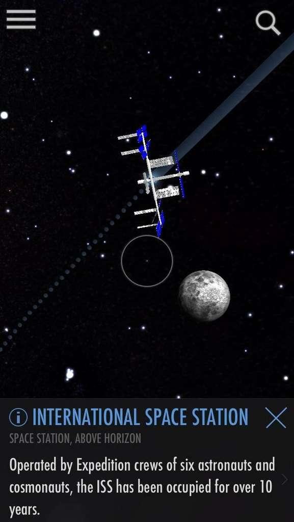 SkyView Free permet de localiser les constellations, planètes et autres astres célestes facilement. © Terminal Eleven.
