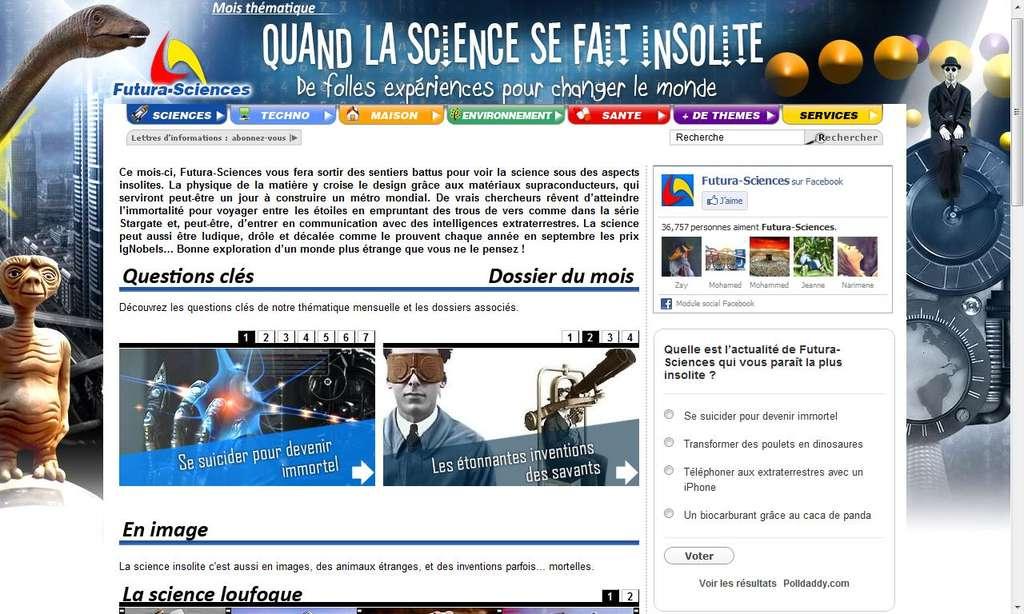Cliquez pour découvrir la page spéciale science insolite !
