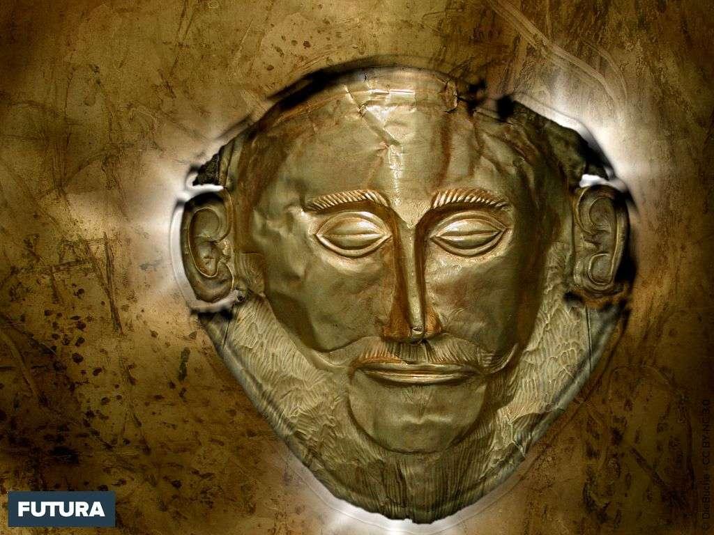 Masque d'Agamemnon héros grec