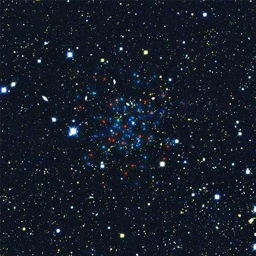 Le nouvel objet extragalactique Horologium 1 pourrait lui aussi être une galaxie naine en orbite autour de la Voie lactée. Le plus proche de ces objets serait à 97.000 années-lumière. © S. Koposov, V. Belokurov (IoA, Cambridge)