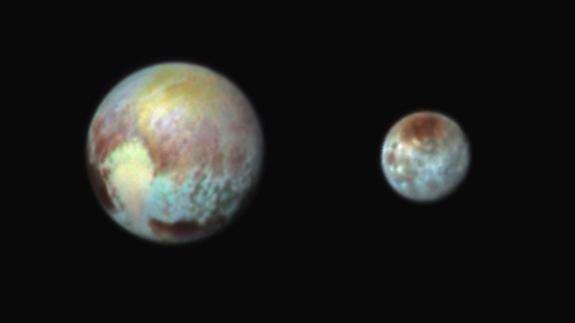 Pluton et Charon en – fausses – couleurs