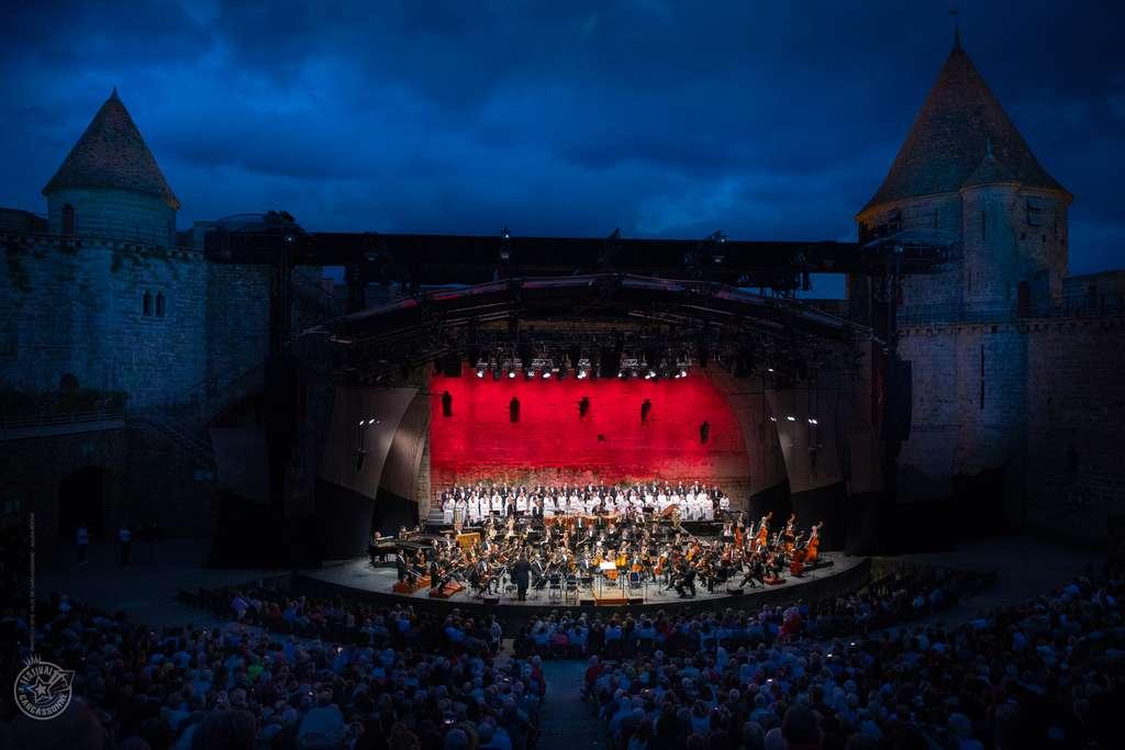 Des concerts évènements se produisent à Carcassonne. © Julien Roche, ville de Carcassonne.