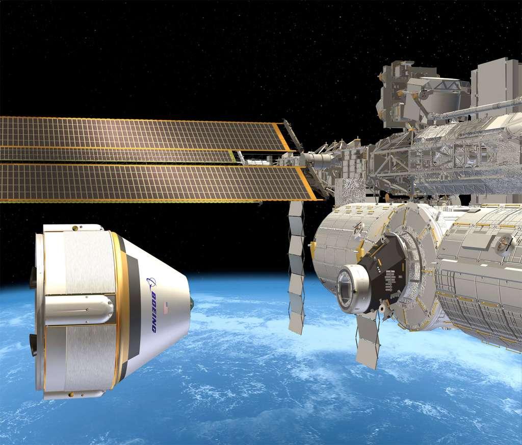 À l'image, le projet de capsule spatiale de Boeing (CST-100) que la firme propose à la Nasa pour la desserte de l'ISS et a Bigelow Aerospace pour son futur complexe orbital. © Boeing