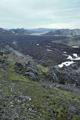 Une coulée d'obsidienne à Landmannlaugar. © Claire König