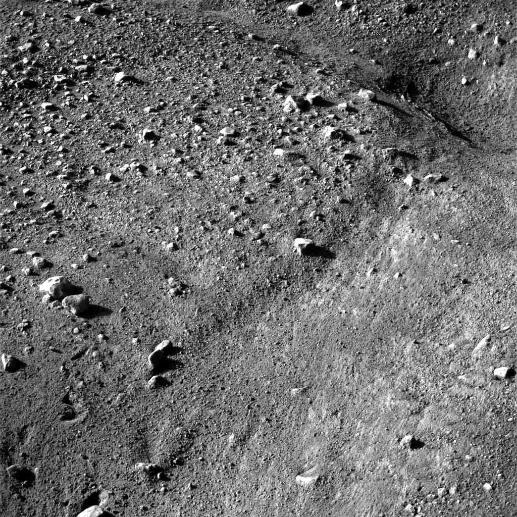 Première image détaillée du sol martien
