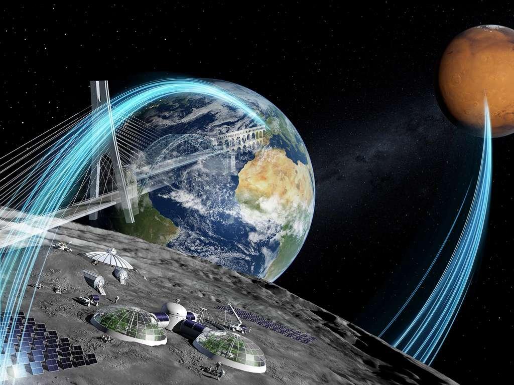 À elle seule, la Lune ne sera pas suffisante pour préparer la Nasa, l'ESA et leurs partenaires internationaux à envoyer des humains sur Mars. Le Gateway, l'ISS et l'orbite basse seront également mis à contribution pour relever ce défi. © ESA, P. Carril