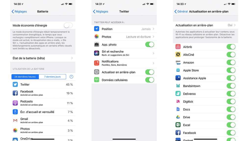 Identifiez et désactivez les apps qui s'exécutent en arrière-plan. © Futura Sciences